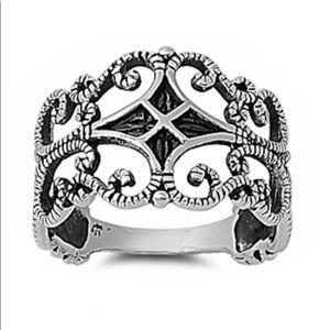 Coming Soon New Love Filigree Sterling Silver Ring